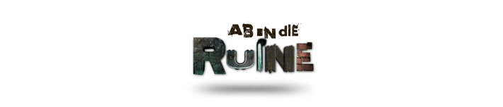 Ab in die Ruine Logo