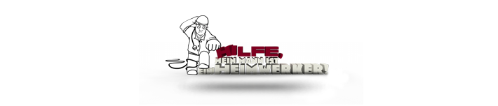 Hilfe, mein Mann ist ein Heimwerker Logo
