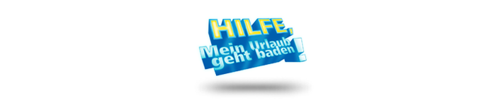 Hilfe, mein Urlaub geht baden Logo