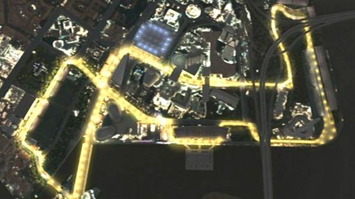 Singapur-GP: 1 Runde durch die Nacht