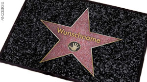 "Fußmatte ""Walk of Fame"" mit Namen"